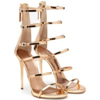 Sandals Women Stiletto Thin High Heel Rome Buckle Straps Sexy Evening Dress Party Shoes Fashion Gladiator Lady 8-I-SL-3