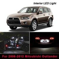 비상 조명 11x 오류가없는 흰색 인테리어 LED 가벼운 키트 2006-2012 Mitsubishi Outlander지도 돔 글러브 박스 번호판