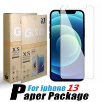10pcs lot Tempered Glass Screen Protector Film for iPhone 13 12 LG Stylus 5G Samsung A22s A3 core F22 A03s Huawei P40 0.33MM Individual paper Package