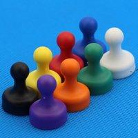 Couleur mixte Opaque Poussée magnétique colorée DIY pour l'autocollant de réfrigérateur Enseignement Pratique Magnétique ThumbTack Tool Owe9514