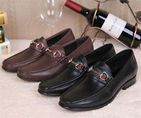 الفاخرة ماركة الرجال اللباس أحذية شقة عارضة الأحذية عالية الجودة مكتب مكتب أوكسفورد مصممون جلد طبيعي مشبك معدن من جلد الغزال كسول المتسكعون Size38-44