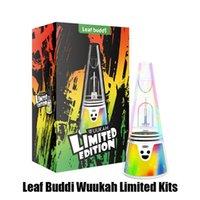 Original Leaf Buddi Wuukah Limited Edition Kit Dab Rig Wax Concentrate Vaporizer Temperature Control 3200mAh Battery Box Mod Device Kits Water Vape Glass Enail