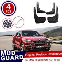 Pour BMW X6 E71 F16 2008 ~ 2019 Boue à boue automobile Garde-boue Guards Splash Guards Fender Mudflaps Accessoires 2011 2013 2014 2014 2015 2016 2017