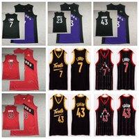 TorontoRapacesNCAA Hommes Pascal 43 SIAKAM Kyle 7 Lowry Basketball Jerseys Fred 23 Vanvleet City 2021 Édition Jersey Purple Rouge Noir Ventes Taille de haute qualité S-XXL