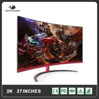"GISH 27 Zoll gebogener LCD-Monitor Gaming Game-Wettbewerb 27 ""LED-Computeranzeige-Bildschirm Full HDD-Eingang 2ms-Antwort / VGA"
