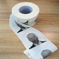 Novidade Joe Biden Papel higiênico Rolo Moda engraçado Humor Gag Presentes Cozinha Banheiro Tecido De Polpa De Madeira Impresso Papel Papel NAPKINS RRA4146