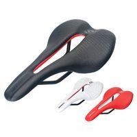 TOSEEK MTB Road Bike Saddle TS20 Велосипедные детали Superfine Волоконная кожа Ультра Светающая гоночная подушка Черный красный белый