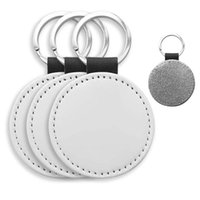 Keychains 10 Pack Sublimation Blanks Keychain Glitter PU Leather DIY Heat Transfer Keyring
