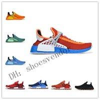 Corrida Humana I II III Hu em Pharrell Williams Mens Running Shoes Mulheres Treinadores Sneakers Core Black Mc Tie Tintura Solar Sapatos Desportivos Unisex