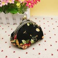 Wallets Coin Purse Women Retro Vintage Flower Small Wallet Lady Hasp Printing Floral Clutch Bag Female Handbag Good Gift Drop