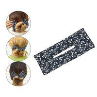 Accessoires pour cheveux Femmes filles Été Bands Bande Bande paresseuse Bandeaux de bricolage Diy Bun Scrunchies Cravates Titulaire de queue de cheval Stylisme