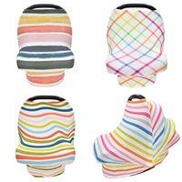 Arco-íris listrado Bebê Capa de Enfermagem de Bebê Assento Do Bebê Stretch Cover Capa Carseat Capa de Amamentação Capa Mãe Shaw Dustproof Capas