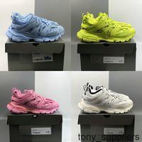 3.0 Gomma Maille Tess S Paris Triple S Sneaker Frauen Herren Laufschuhe Sport Trainer blau Rosa Gelb Weiß des Chaussures