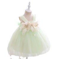 Girls Dresses Children Clothing Kids Clothes Wedding 1st Birthday Dress For Baby Girl Princess Pettiskirt Lace Formal Newborn Party Flower B8546