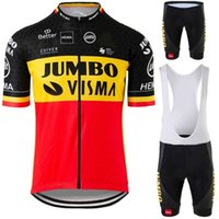 Jumbo Visma - Belgisches Fahrrad-Pullover, belgisches Meister Fahrradkostüm, Rennrad-T-Shirt Anzug, Shorts, MTB-Jersey, 2021 J0601
