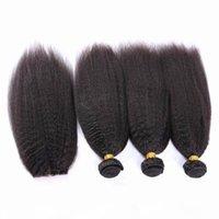 이탈리아 굵은 야키 버진 말레이시아 인간의 머리카락 폐쇄 킨키 스트레이트 4x4 레이스 프론트 클로저와 폐쇄 4pcs 로트 4x4