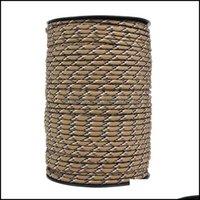 Corde, sport all'apertocords, slitte e tessitura ad-100m 4mm 9 stand core cores paracord per sopravvivenza paracadute cordone cordino cam riepilabile corda h