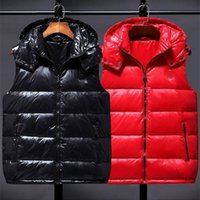 Горячая распродажа Низкая цена вниз куртка Жилеты мужчины женщины мода с капюшоном жилет высококачественная вышивка роскошные жилеты теплые легкие жилеты - 2021