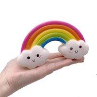 점보 무지개 쪼개는 장난감 장난감 삐걱 거리는 장난감 PU 거품 Bunnyscafe 점보 캔드 니콘 도넛 Shimmery Slow Rising Squishy Aha4223