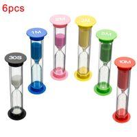 6 штук детей 6 цветов классных игр песочные часы таймера Montessori игрушки для часов песочные часы часовые часы детские украшения дома игрушки DZIEC