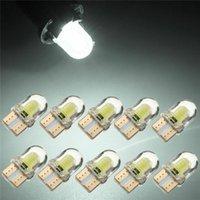 Emergency Lights 10Pcs T10 T15 501 W5W Car Side Light Bulbs Error Free Canbus Wedge SMD LED Xenon HID DC12V White COB