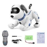 Landzo K16A Animaux électroniques RC Animal Animal Robot Pripable Dog Voix Télécommande Toy Chiot Musique Chanson pour enfants Anniversaire Cadeau