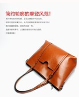 Autumn and winter 2020 new simple and versatile leather large capacity tote bag women's bag Single Shoulder Messenger Handbag