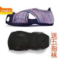 Lycra Breathable Pilates Air Yoga Socks Strap Anti Slip Training Dance Shoes Professional Women's Soft Sole 5N16
