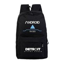 Plecak Detroit staje się ludzki RK800 Plecaki Podróży Ramię Torby szkolne dla nastolatków Casual Student Preppy Style Torba na laptopa