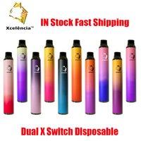 Vape Xcelencia التبديل X Dual Puffs Kit Device 2in1 مقابل 900 مللي أمبير بطارية preflected 6ML جراب الأصلي القلم عصا XXL 100٪ بار بالإضافة إلى FER