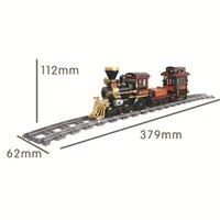 Classic Steam Rear City 473 + PCS Technic Boy Block Block Просветить Rail Bricks для детей Совместимость Марка LEDUO Рождественский подарок 0215
