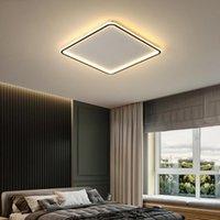 Tavan Işıkları Mdwell Modern Oturma Odası Yatak Odası Uzaktan Kumanda için LED + Uygulama Kare / Yuvarlak Plafonnier Lamba Armatürleri