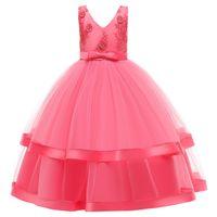 Girls Dress Teens New Year Princess Children Wedding Gown Kids Dresses for Girl Birthday Party Vestidoes 1431 B3