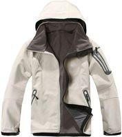 남성 Softshell Fleece 후드 즈 재킷 Apex Bionic Mens Snow Ski 다운 따뜻한 재킷 야외 방풍 스포츠 재킷 블랙 화이트 핑크 코트