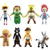 Parti Favor 30-38 cm Anime Shrek Prenses Fiona Gingerbread Adam Eşek Peluş Oyuncaklar Peluche Büyük Boy Karikatür Bebekler Yastık Kadın Çocuklar Hediye