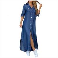 Длинные старинные плюс размер мода женское платье лето повседневная элегантный рукав свободная женская одежда