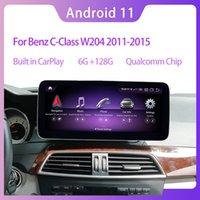 "10.25 ""Qualcomm Android 11 6G RAM 128G ROM для Mercedes Benz C Class W204 2011-2013 Автомобильная радиостанция GPS навигация Bluetooth Wi-Fi головной блок экран"