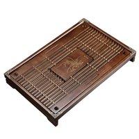 الذكية التحكم في المنزل الصلبة الخشب الشاي صينية الصرف تخزين المياه مجموعة درج مجلس طاولة أدوات الحفل الصيني