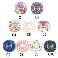 decompressions Silicone suction cup gripper Toy grip ring Five-finger exercise decompression color printing rings