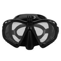 Máscara de mergulho subaquática profissional Snube Snorkel natação óculos de mergulho equipamentos apropriado para a maioria das câmeras esportivas