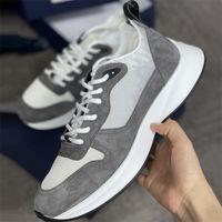 2021 Мужчины Oblique B25 Бегун кроссовки Air Platform Обувь Роскошные Натуральные Кожаные Мехаистые Тренеры Серый Замшевый Тройной Повседневная Обувь Большой Размер