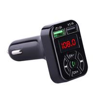 A9 Bluetooth Автомобильный комплект MP3-плеер FM-передатчик Handsfree Автомобильный комплект Адаптер 5V 3.1A USB Зарядное устройство с TF / U Disk Audio Music Player 70PCS / LOT
