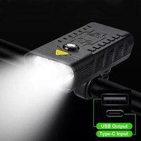 Lumières de vélo 10000mah Light USB USB Rechargeable Bicyclette Étanche Phare 5T6 LED Super lumineux Accessoires