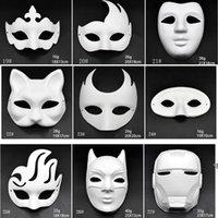 Maquiagem Dança Branco Máscara Embryo Molde Diy Pintura Máscara Máscara Polpa Animal Bruxas Festival Branco Papel Face Mask HWB10108