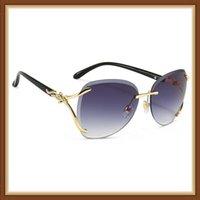 숙녀 패션 성격 여우 조각 머리 오픈 선글라스 디자이너 바다 UV400 여성 브랜드 자동차 컨버터블 UDWSR