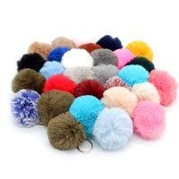 26 Colors 8CM Imitation Rabbit Fur Balls Keychain Pendants Artificial Pom Ball Pendant Clothing Accessories Free Delivery