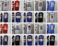 NACC 15 Jokic Basketball Jerseys Mens Jamal 27 Murray Allen 3 Iverson Dikembe 55 Mutombo Jersey Stadt Blaue Edition Rot Weiß