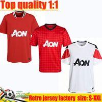 레트로 2011 2012 클래식 빈티지 축구 유니폼 11 12 13 UTD chicharito 남자 Berbatov Nani Pogba Anderson Ronaldo Rooney Giggs Ferdinand 축구 United Shirt S-2XL