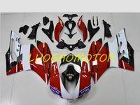 Inyection motocicleta trasera cubierta de cares kit kits de carenaje ducati 959 1299 carrocería 959s 1299s 2015-2016-2017-2018 regalos personalizados Cowling White White Balck Niza