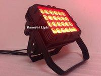 Эффекты 2 шт. 24x10W LED RGBWWWate Ledspot Светильник наводнения IP65 Открытый город Цветная стена Света Света